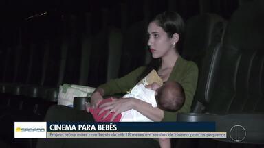 Em Campos, projeto reúne mães com bebês de até 18 meses em sessões de cinema - Confira na reportagem de Alice Sousa.