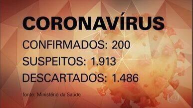 Ministério da Saúde confirma 200 casos do novo coronavírus no Brasil - Veja os números atualizados deste domingo (15) e quais outros estados informaram novos casos da doença.