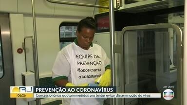 Concessionárias adotam medidas para evitar transmissão do coronavírus nos transportes - Secretário estadual de Saúde comenta sobre as medidas adotadas pelas concessionárias para evitar o contágio do coronavírus dentro dos transportes públicos.