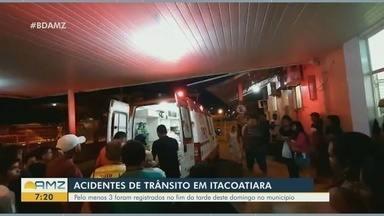 Acidentes de trânsito são registrados em Itacoatiara, no AM - Pelo menos 3 foram registrados no fim da tarde deste domingo no município.