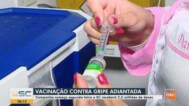 Efeito coronavírus: campanha de vacinação contra a gripe é antecipada em SC - Efeito coronavírus: campanha de vacinação contra a gripe é antecipada em SC
