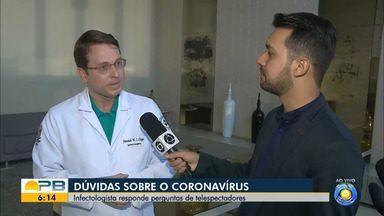 Infectologista tira dúvidas de telespectadores sobre o coronavírus - Confira os detalhes com o repórter Ítalo Di Lucena.