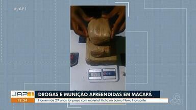 Homem de 29 anos é preso com drogas e munições no bairro Novo Horizonte, em Macapá - Homem de 29 anos é preso com drogas e munições no bairro Novo Horizonte, em Macapá
