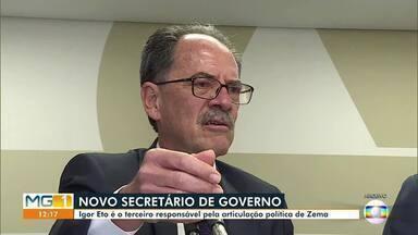 Novo secretário do Governo de Minas, Igor Eto, tomou posse ontem - Igor Eto é o terceiro responsável pela articulação política do governo Zema.