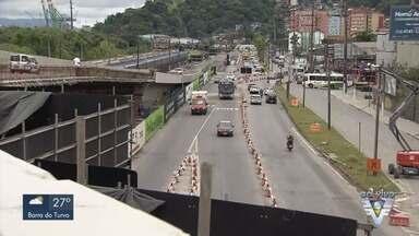 Obra causa mudanças no trânsito da entrada de Santos - Durante entrevista coletiva as mudanças foram anunciadas.