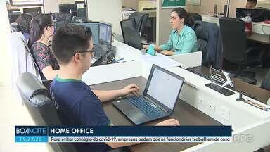 Para evitar contágio do Covid-19, empresas pedem que os funcionários trabalhem de casa - O novo coronavírus mudou a rotina de muitos trabalhadores.