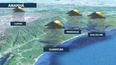 A previsão é de pancada de chuva e temperaturas altas em Curitiba e litoral na quarta (18) - Na capital, a máxima pode ultrapassar os 30 graus.