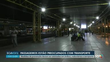 Novo coronavírus: passageiros estão preocupados com os cuidados no transporte público - Medidas de prevenção devem ser adotadas em ônibus, rodoviárias e aeroporto.