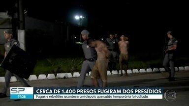 Cerca de 1400 presos fugiram de presídios em Porto Feliz - Fugas e rebeliões aconteceram depois que saída temporária foi adiada. Polícia passou o dia capturando presos.