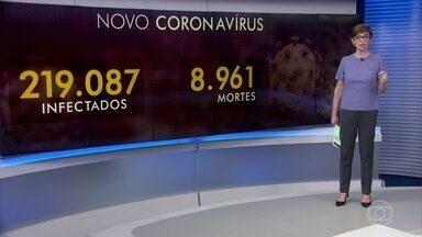 Pandemia do coronavírus já causou quase nove mil mortes no mundo - Casos confirmados já passam de 219 mil.