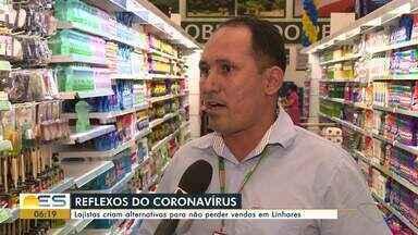 Clientes fazem fila em hipermercado de Linhares, ES, em busca de álcool gel - Enquanto isso, movimento em outros setores do comércio caiu.