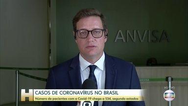 Número de pacientes com a Covid-19 chega a 533, segundo estados - O Ministério da Saúde confirma 428 casos do novo coronavírus no Brasil, mas eles estão sendo atualizados a todo momento pelas secretarias estaduais.