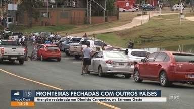 Com decreto federal, Dionísio Cerqueira tem fechamento de fronteira terrestre - Com decreto federal, Dionísio Cerqueira tem fechamento de fronteira terrestre