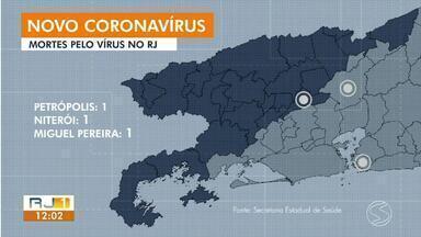 Sobe para 110 o número de casos confirmados de coronavírus no estado do RJ - São três mortes causadas pela doença: em Miguel Pereira, Niterói e Petrópolis.