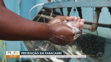 Paracambi coloca carro de som nas ruas e instala lavatórios pela cidade - Objetivo é conscientizar a população a evitar aglomerações e higienizar as mãos.