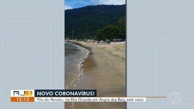 Ilha Grande, em Angra dos Reis, está vazia por causa do novo coronavírus - Seguindo as medidas para combater a propagação do vírus, a Vila do Abraão, que tinha muito movimento de turistas, está sem ninguém nas ruas.