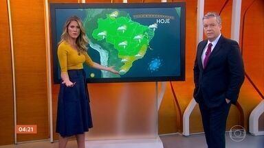 Risco é de temporal no Ceará nesta quinta-feira - Pode chover também no Norte e em parte do Centro-Oeste.