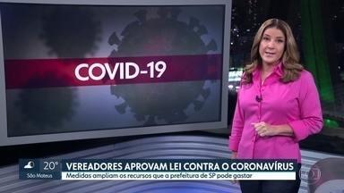 Vereadores aprovam lei com novas medidas de combate à covid-19 - Proposta prevê mudanças nos contratos da prefeitura enquanto durar a situação de emergência e o estado de calamidade pública na capital.