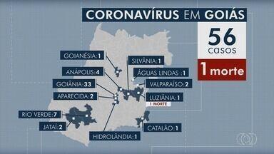 Goiás registra 56 pessoas com coronavírus e uma morte - Idosa de 66 anos, de Luziânia, é a primeira vítima da doença Covid-19.