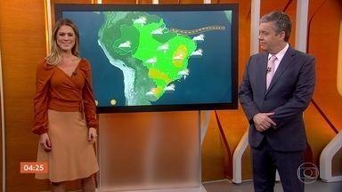 Meteorologia prevê chuva em parte do Norte e do Nordeste nesta terça-feira - Em São Paulo, o tempo fica firme.