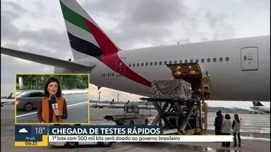 Testes rápidos chegam em SP - 1º lote com 500 mil kits será doado ao governo brasileiro.