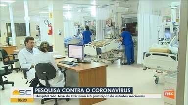 Hospital participa de estudos nacionais sobre o coronavírus em Criciúma - Hospital participa de estudos nacionais sobre o coronavírus em Criciúma