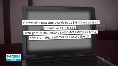 Alexandre Kali vai impedir entrada de ônibus de Lagoa Santa na capital - A medida passa a valer na segunda-feira (6). Segundo o prefeito de BH, a decisão é uma barreira para diminuir chance de contaminação pelo novo coronavírus.