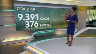 Brasil tem 9.391 casos confirmados de coronavírus e 376 mortes - Março terminou com 5.812 casos de coronavírus. Abril começou com mais de 6 mil e em três dias subiu para 9 mil.