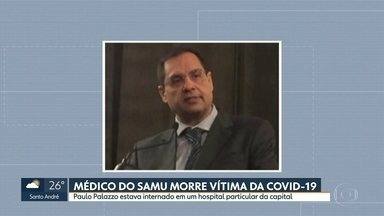 Médico do Samu morre vítima do coronavírus - Equipes do Samu prestaram homenagem ao colega morto.