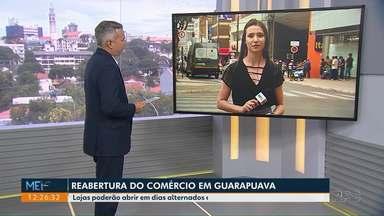 Decreto autoriza reabertura do comércio em Guarapuava - Lojas poderão abrir em dias alternados e com restrições.