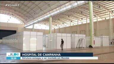 Em Marabá, começa montagem de hospital de campanha para atender pacientes da Covid-19 - A unidade deve atender sul e sudeste do Pará. Dois casos estão confirmados no município.
