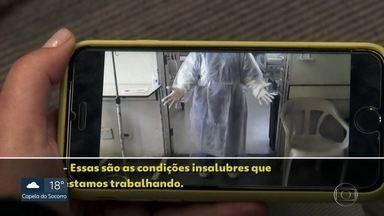 Funcionários do Hospital Tide Setubal relatam falta de equipamentos de proteção - Os profissionais de saúde reclamam da falta de equipamentos básicos de segurança para atendimento a pacientes.