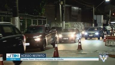 Baixada Santista tem bloqueios no acesso às cidades no feriado - Objetivo é restringir acesso às cidades para evitar aglomerações.