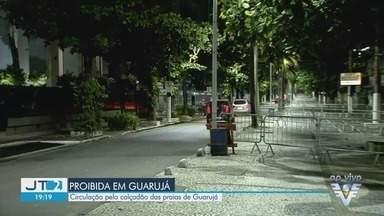 Circulação no calçadão das praias de Guarujá é proibida - Medida tem como objetivo evitar aglomeração no calçadão das praias da cidade.