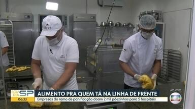 Alimento pra quem tá na linha de frente do combate ao novo coronavírus - Empresas do ramo de panificação doam 2 mil pãezinhos para 5 hospitais.