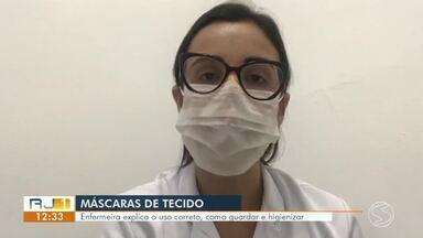Ministério da Saúde recomenda uso de máscaras para sair de casa - Até mesmo as pessoas sem sintomas da doença devem usá-las.