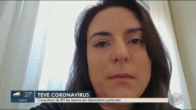Consultora de RH fez exame particular para detectar novo coronavírus - Marcela Soares Pacheco explica como foi o tratamento nos 14 dias que teve que ficar em casa e no hospital.