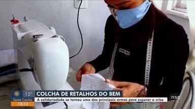 Voluntárias produzem materiais para doação durante quarentena - Voluntárias produzem materiais para doação durante quarentena