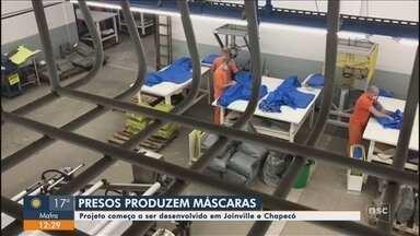 Detentos devem produzir máscaras faciais na penitenciária de Joinville - Detentos devem produzir máscaras faciais na penitenciária de Joinville