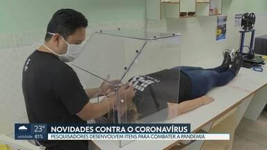 Pesquisadores do DF estão empenhados em projetos para combater novo coronavírus - Luvas e máscaras especiais e caixa de acrílico estão entre os novos projetos da UnB e do Instituto Federal de Brasília. Instituições precisam de ajuda para o financiamento dos projetos.