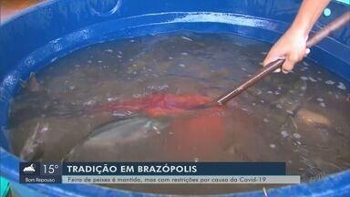 Feira do peixe é mantida em Brazópolis, mas com restrições por conta do novo coronavírus - Feira do peixe é mantida em Brazópolis, mas com restrições por conta do novo coronavírus