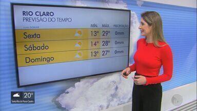 Confira a previsão do tempo para a região na sexta-feira - Confira a previsão do tempo para a região na sexta-feira