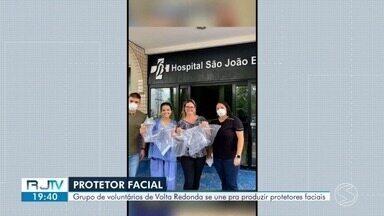 Grupo de voluntários de Volta Redonda se une para produzir protetores faciais - Durante a pandemia exemplos de solidariedade têm surgido.