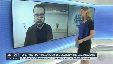 Sobe para 13 o número de casos confirmados de Covid-19 em Araraquara - Cidade tem uma morte pela doença.