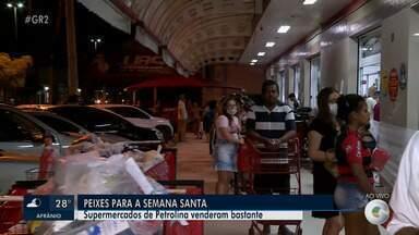 Confira o movimento em supermercado de Petrolina para as compras da semana santa - De acordo com a tradição católica, na sexta-feira santa não se deve consumir carne vermelha
