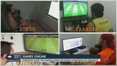 Amigos de Araraquara mantém competição de games para diversão na quarentena - Eles estão jogando online, cada um em sua casa, em vez de se reunirem.