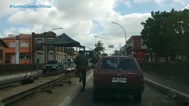 Cidades da fronteira têm reforço de fiscalização e acesso restrito - Free shops estão fechados e autoridades orientam pessoas a não realizar viagens.