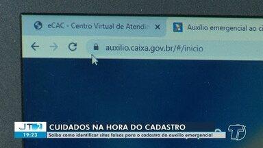 Saiba como identificar sites falsos para o cadastro do auxílio emergencial - Especialista ensina passo a passo o procedimento.