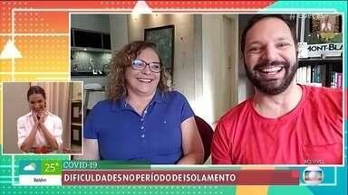 Mateus voltou da Itália com a mãe e fala sobre as dificuldades do isolamento - Marisa morava na Itália e voltou ao Brasil