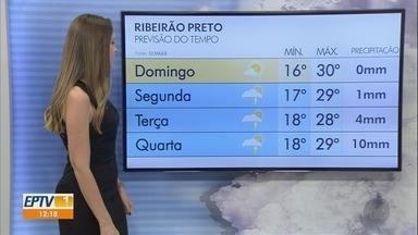 Confira a previsão do tempo para esse sábado (11) em Ribeirão Preto e região - Temperatura deve chegar aos 30º C.